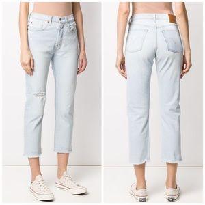 NEW Levi's 501 High Rise Straight Leg Crop Jean